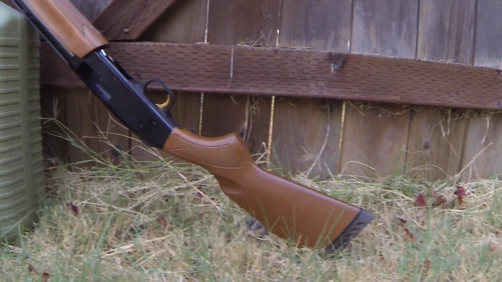Mossberg 500 Pump-Action Shotgun buttstock