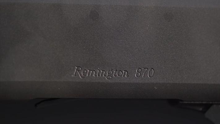 Remington 870 Metal Engraving