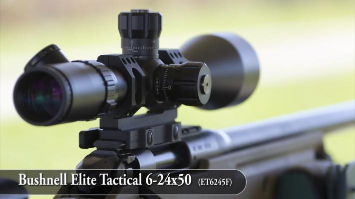 Bushnell Elite Tactical 6-24x50 Rifle Scope ocular