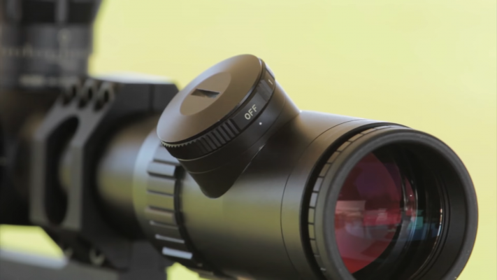 Bushnell Elite Tactical 6-24x50 Rifle Scope lense