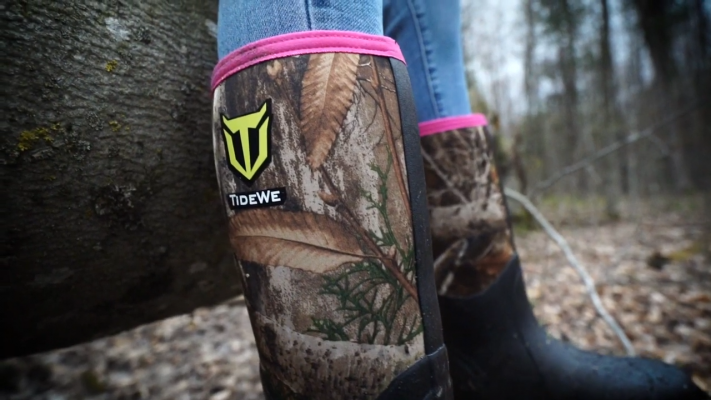 TIDEWE Rubber Outdoor Hunting Boots Perfect Fit